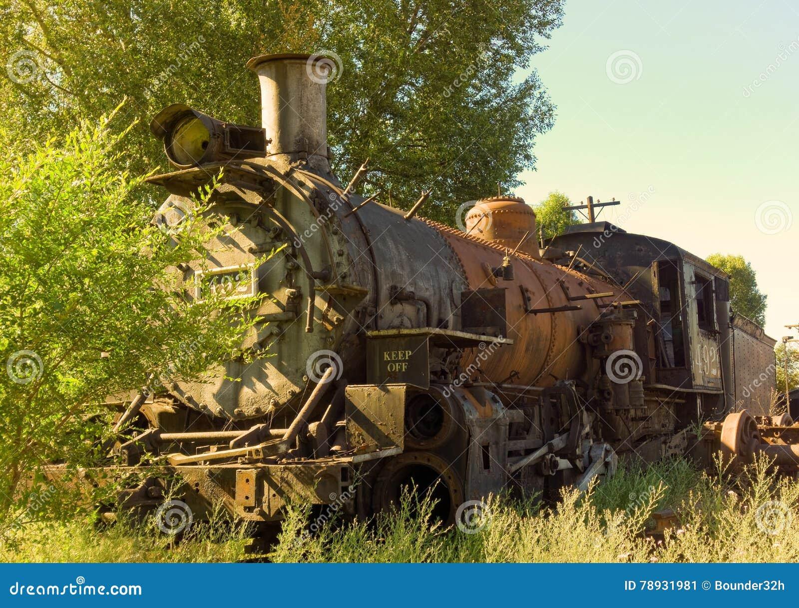 Um motor de vapor aposentado