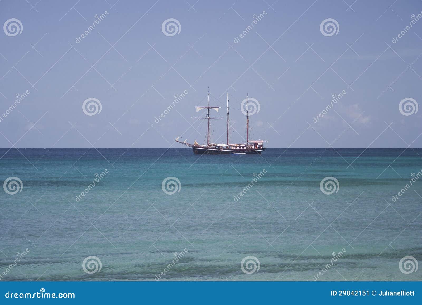 Navio alto das caraíbas