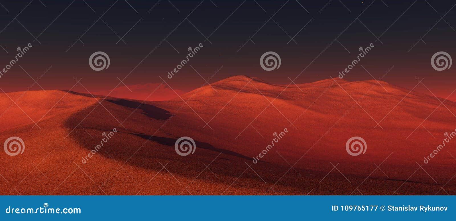 Um panorama do planeta Marte