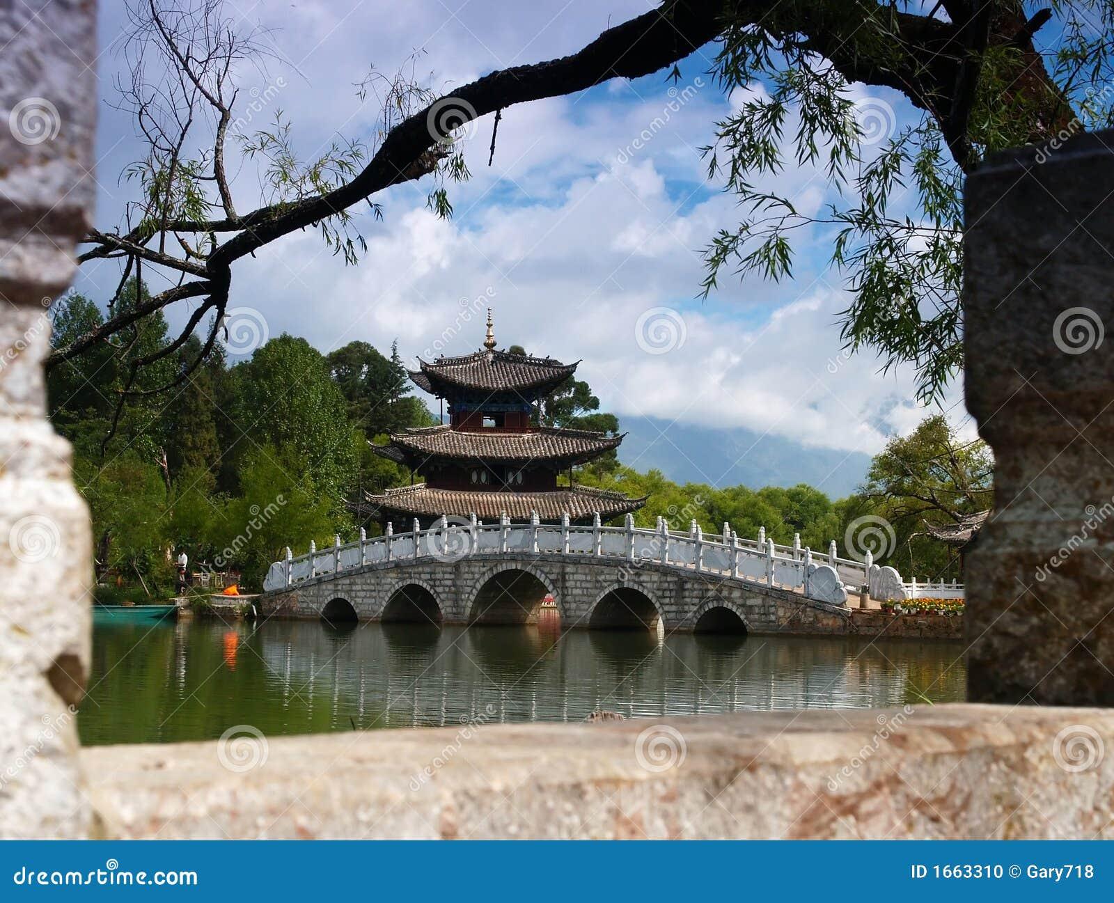 Um parque do cenário em Lijiang China