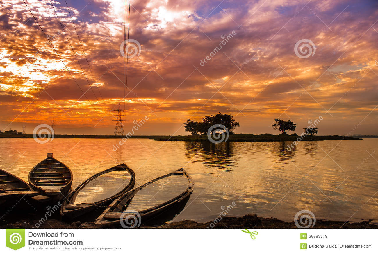 Um por do sol bonito