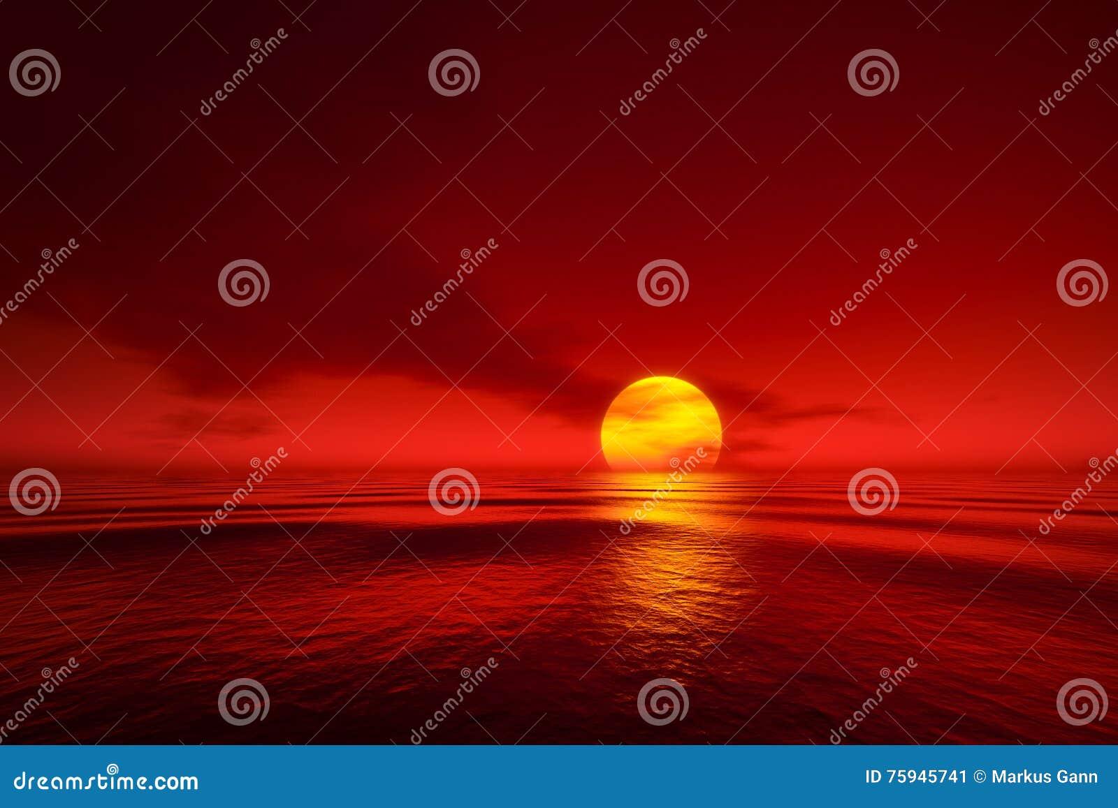Um por do sol sobre o mar