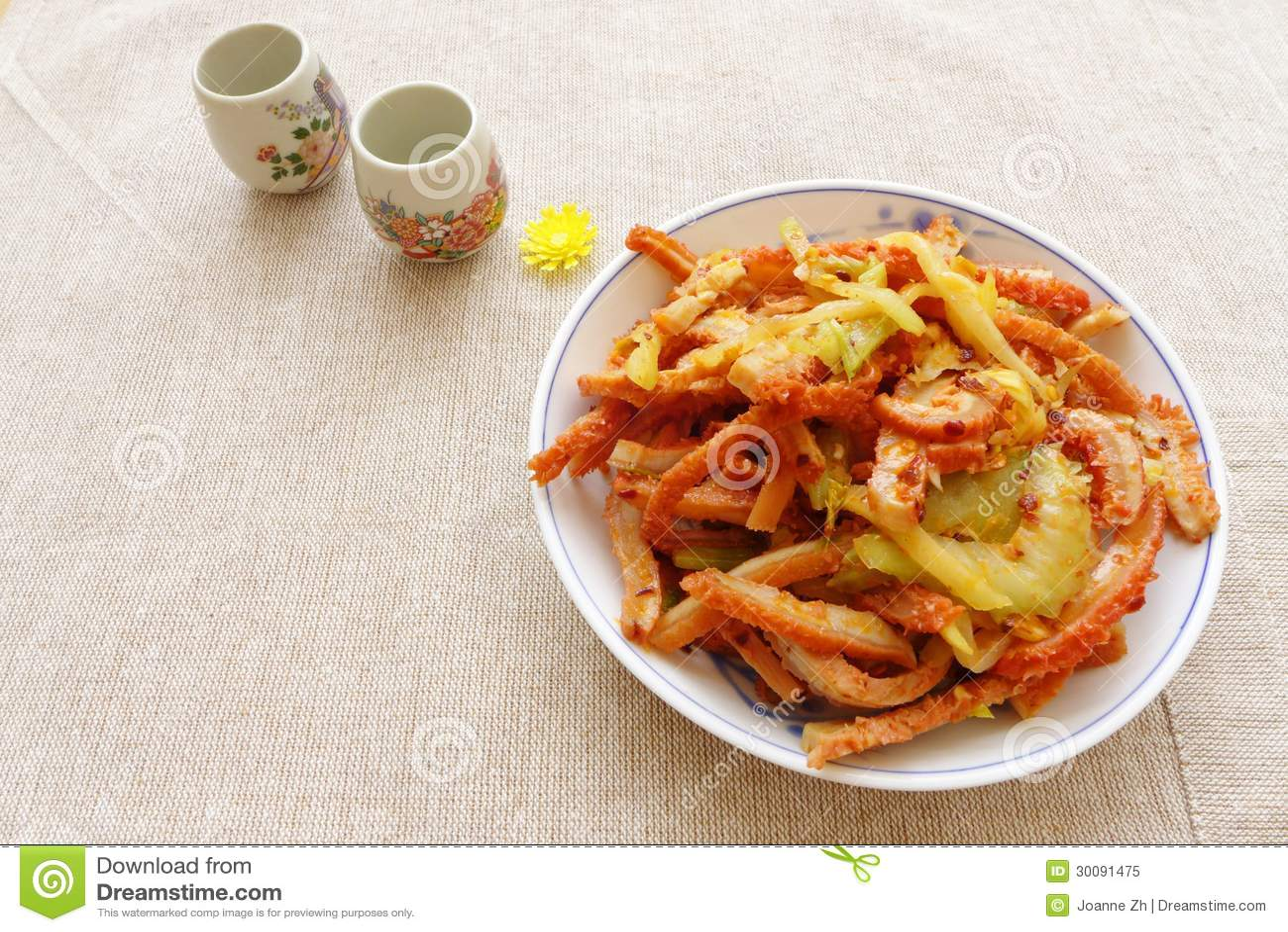 Aperitivo chinês do frio do alimento