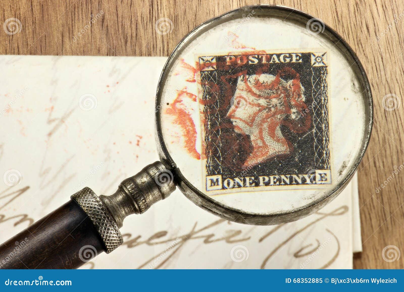 Um preto da moeda de um centavo
