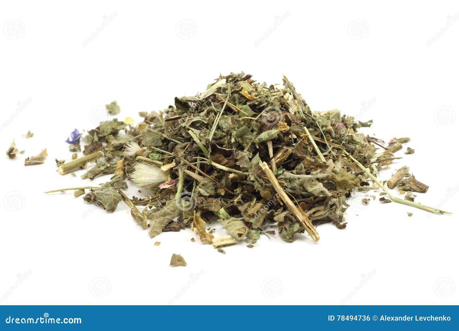 Um punhado de ervas secadas