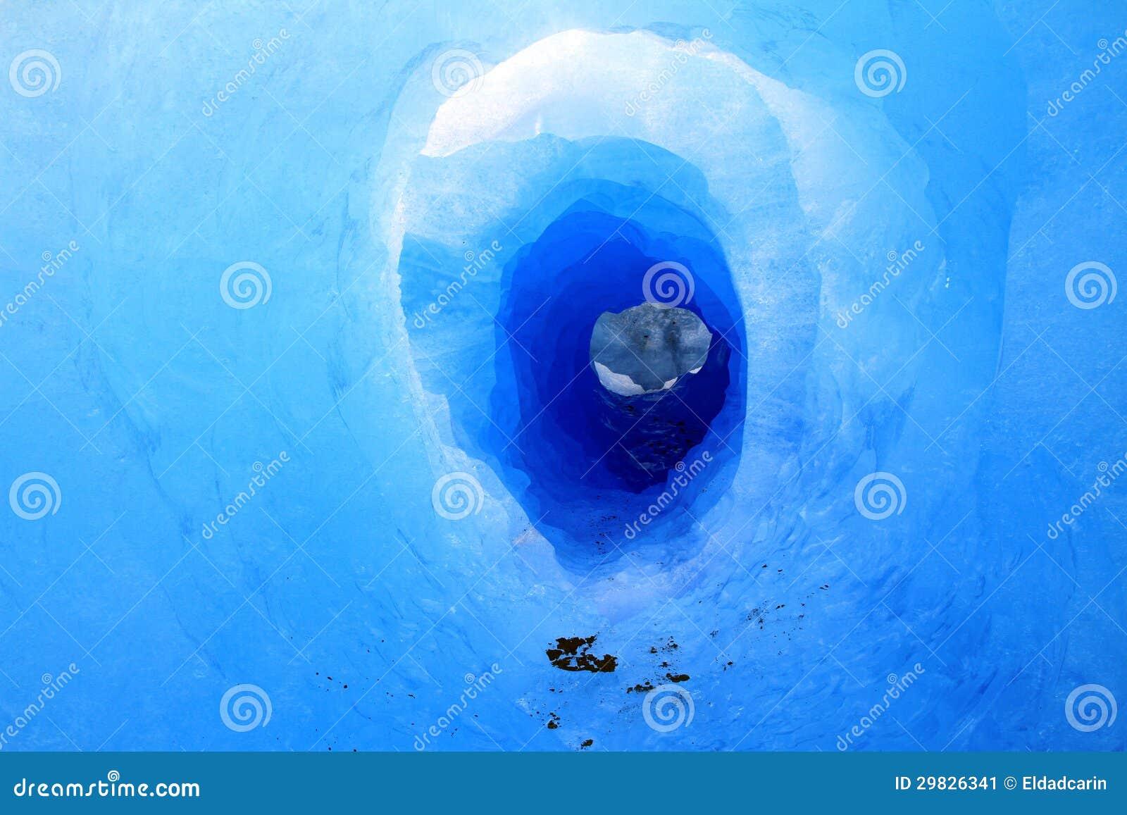 Túnel da geleira do Patagonia