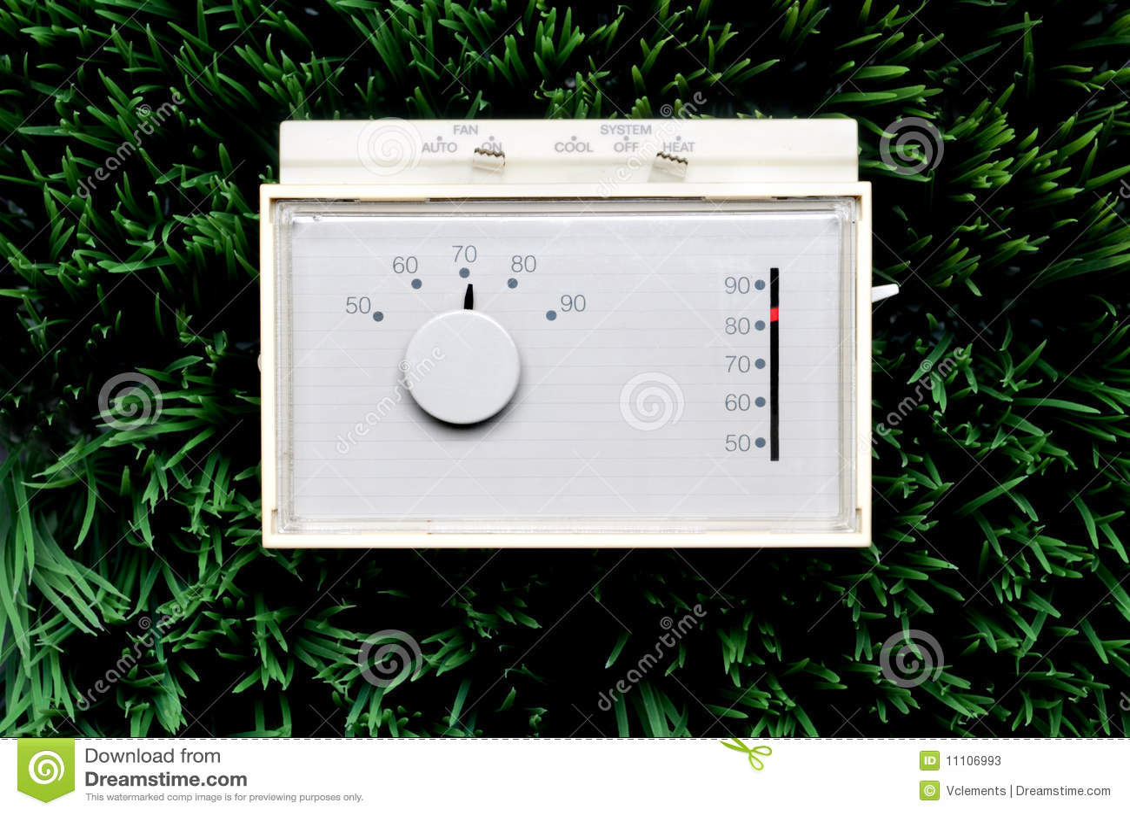 Um termostato incapaz velho