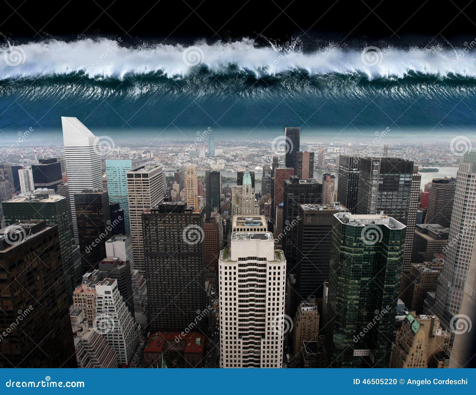 Um tsunami sai contra a cidade de New York