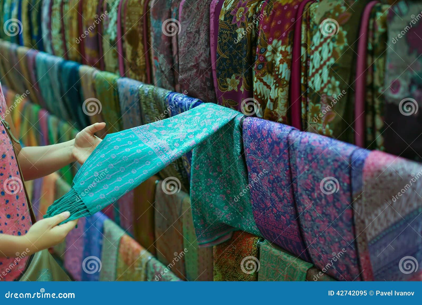 Um vestuário na loja