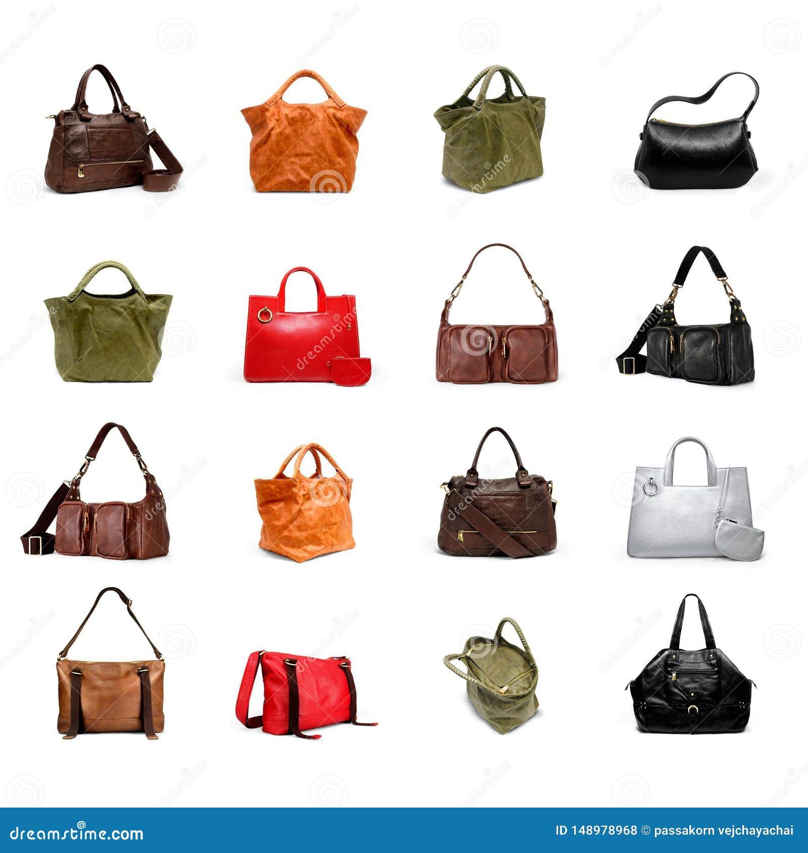 Um woman' bolsa de s em uma variedade branca