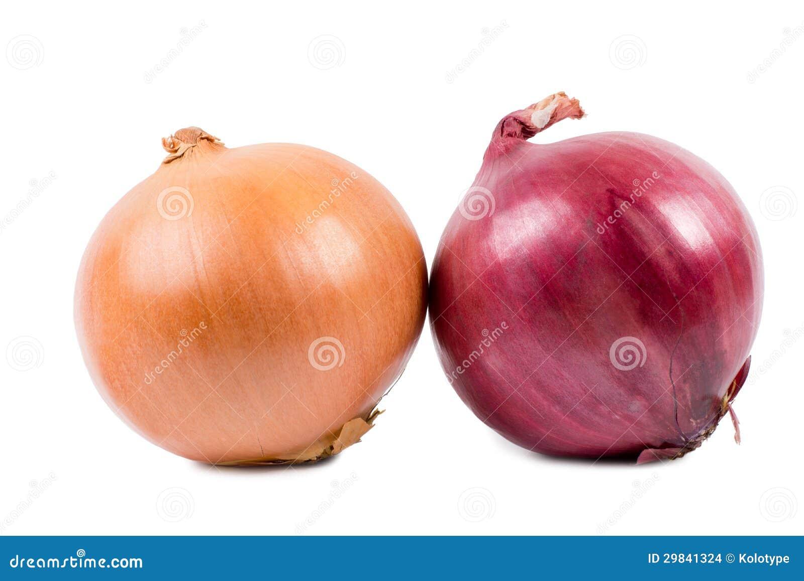 Brown e cebolas vermelhas