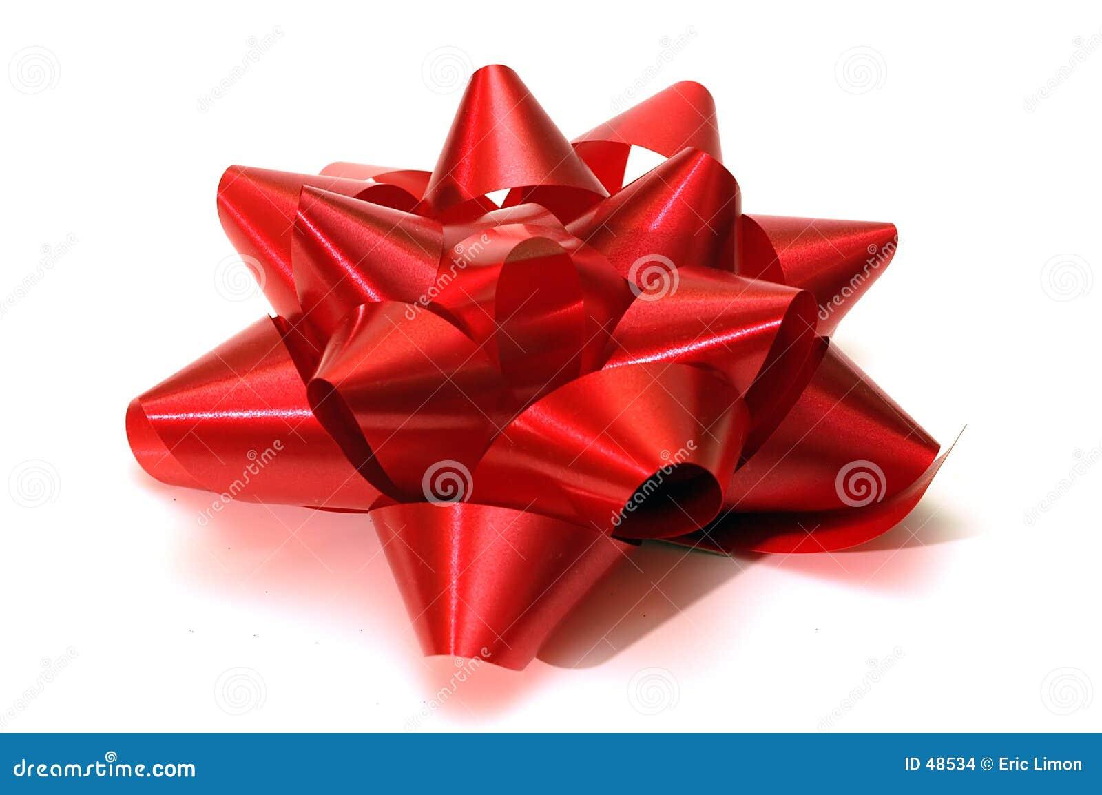 Uma única curva vermelha do Natal