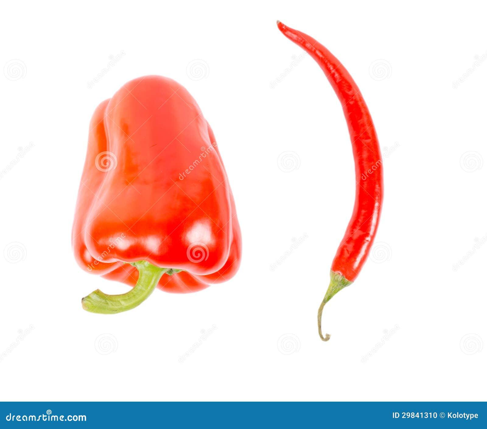 Pimentas vermelhas do sino e de pimentões