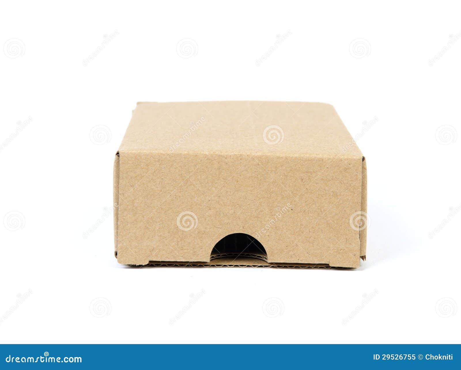 Uma caixa de cartão isolada