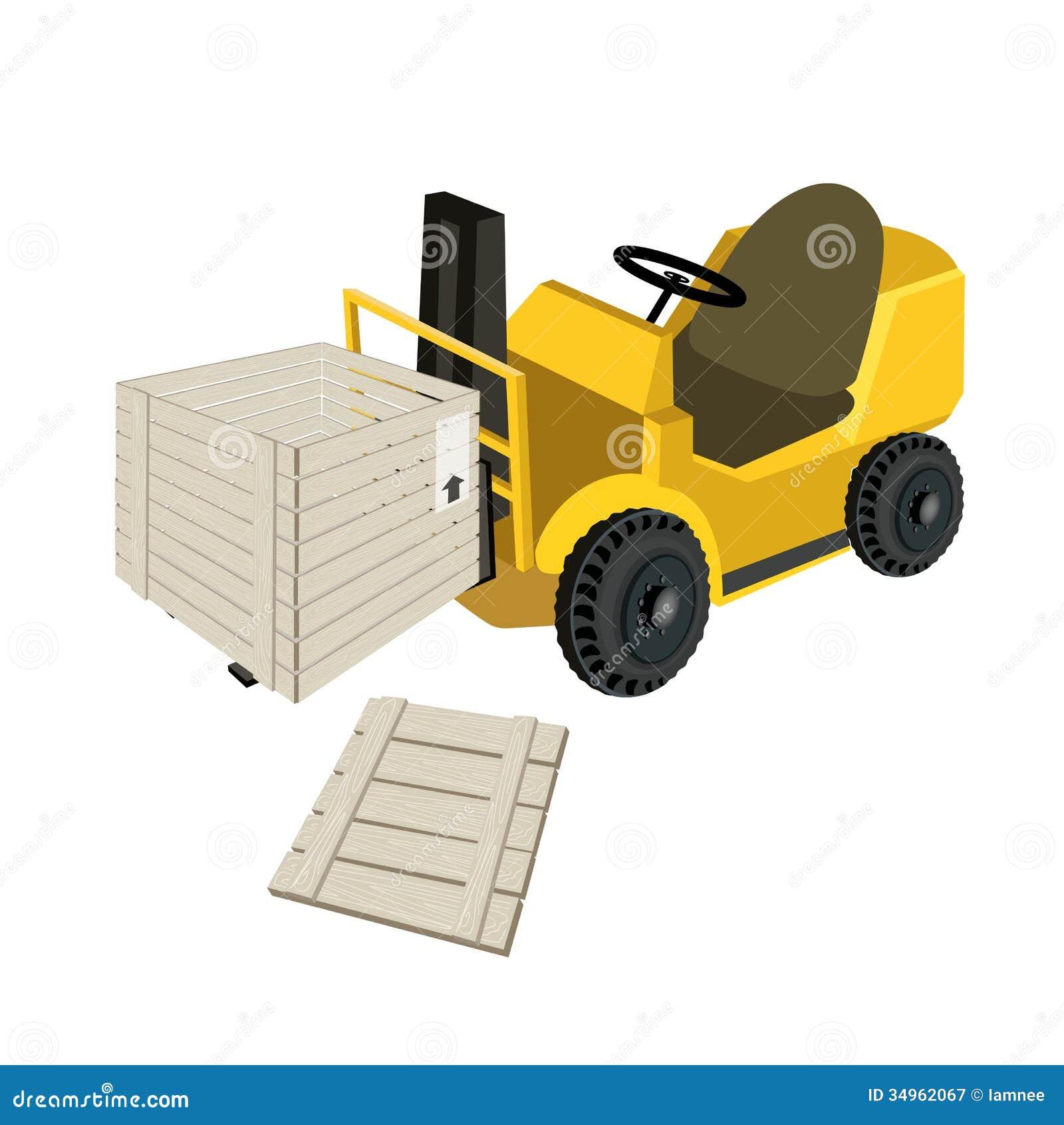 de elevador pesado que carrega uma caixa aberta da caixa de madeira ou #C49A07 1300x1390