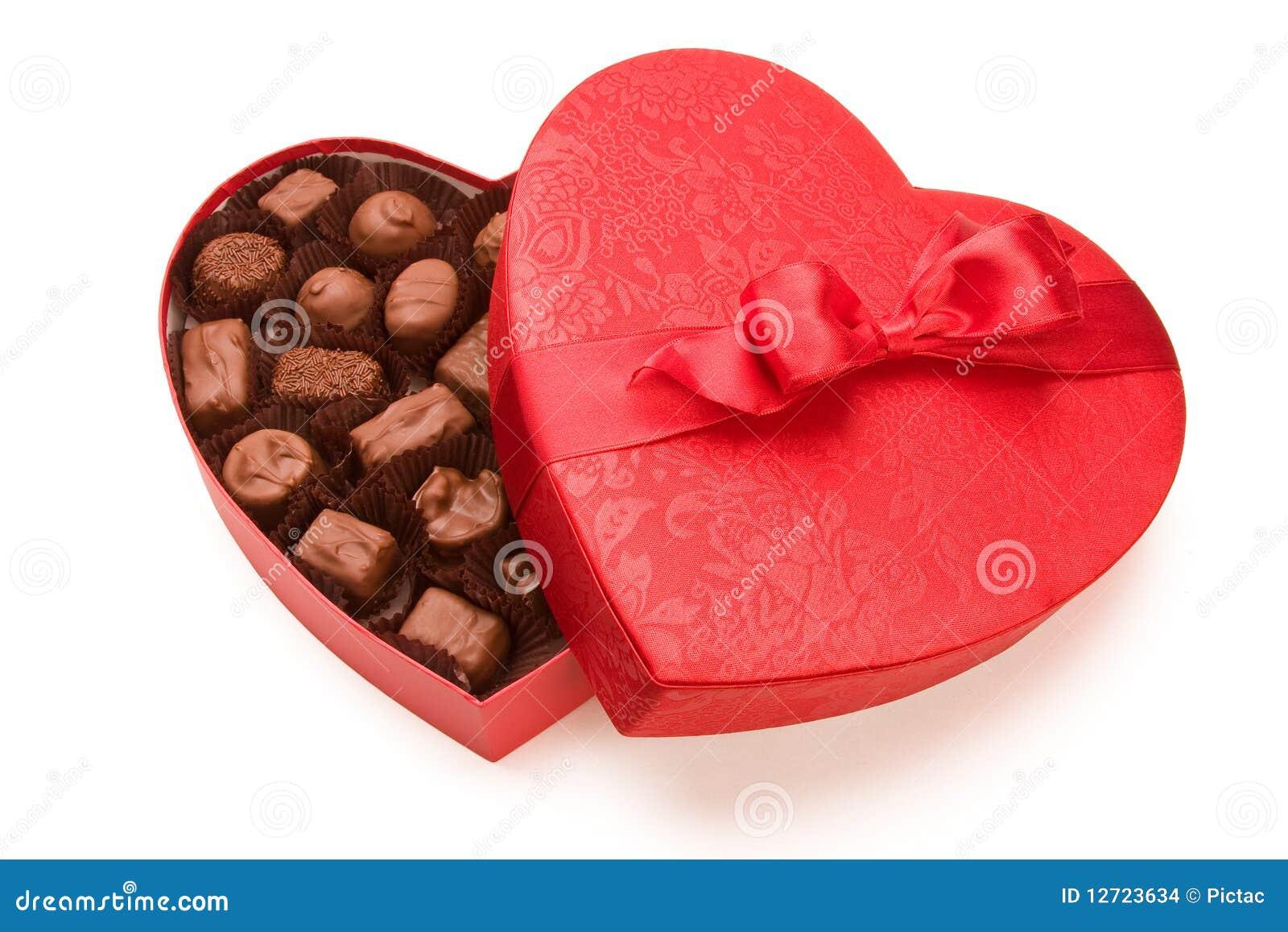 Uma caixa do chocolate do Valentim