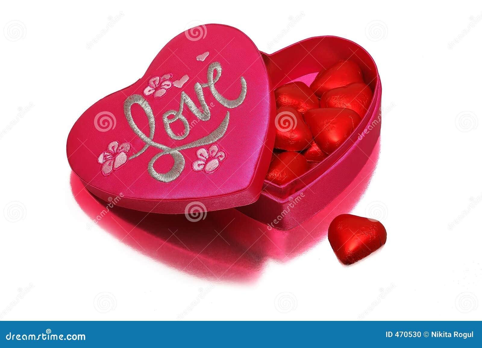 Uma caixa heart-shaped