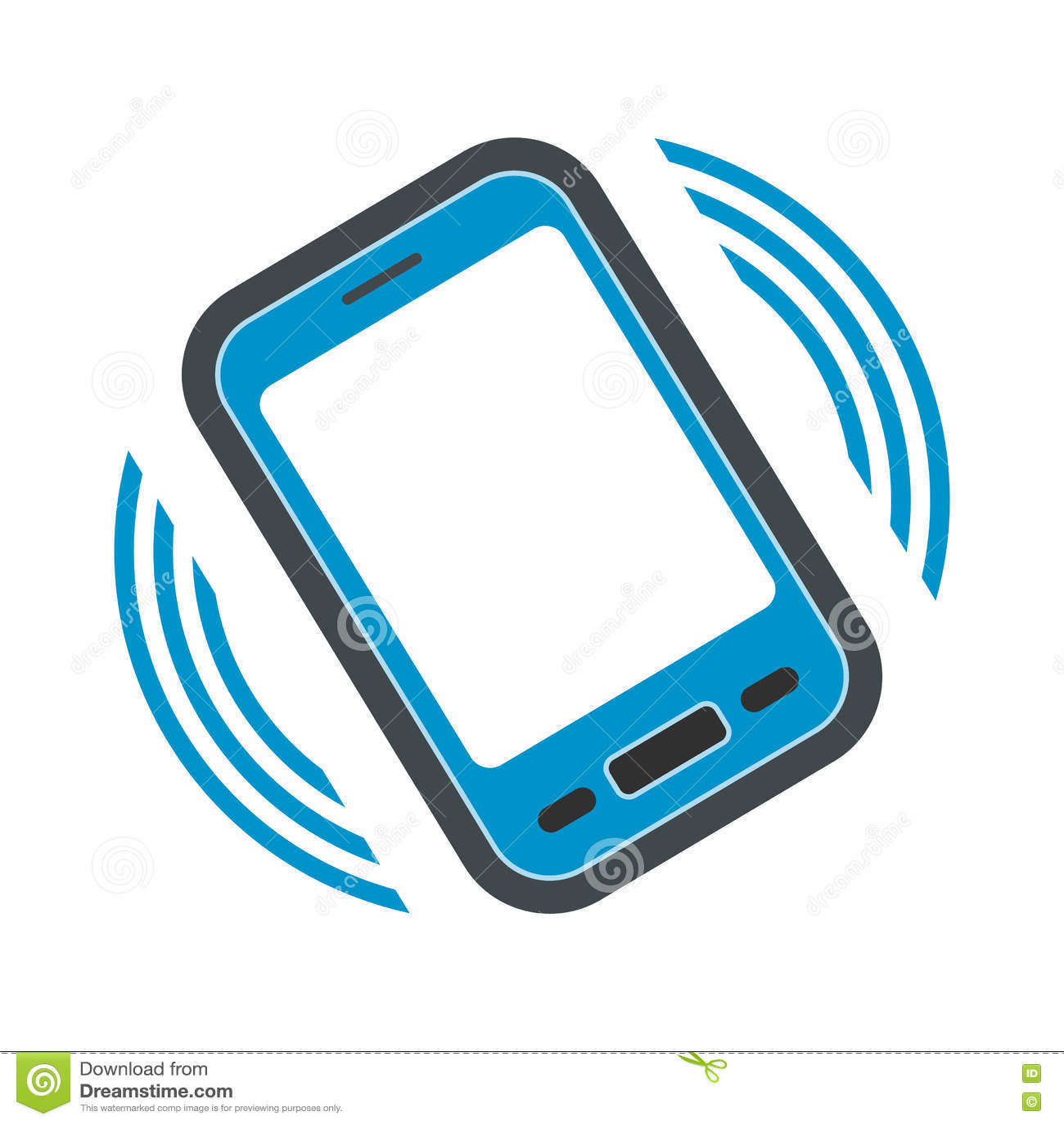 Uma chamada entrante ao ícone liso do telefone