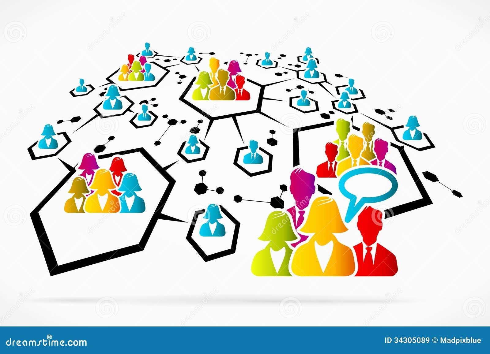 Uma comunicação da rede