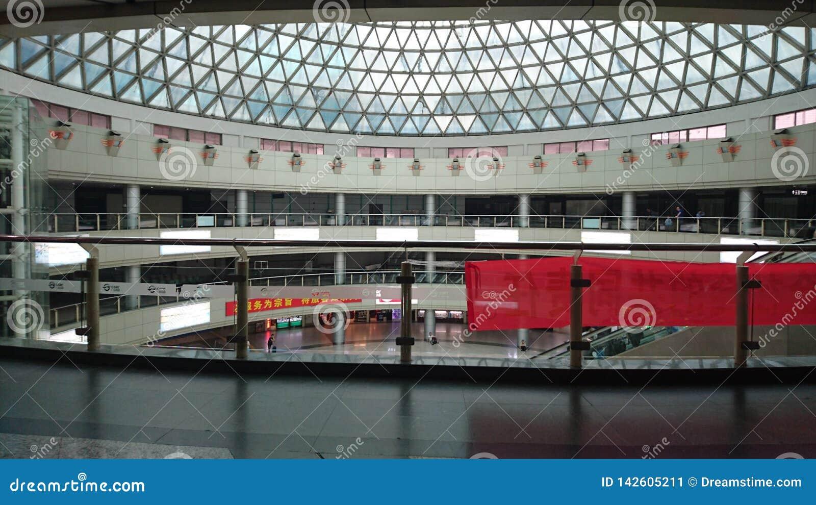 Uma construção grande em Guangzhou