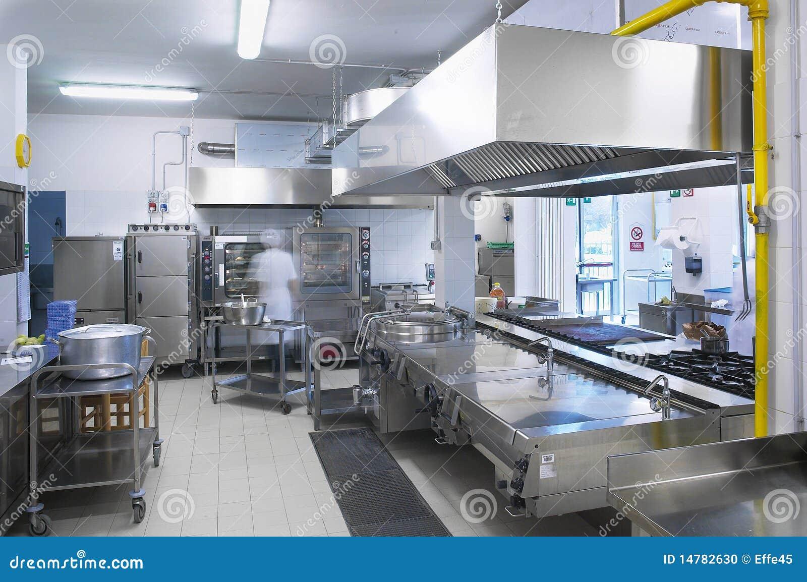 Uma Cozinha De Um Restaurante Foto de Stock Imagem: 14782630 #BA9D09 1300 954