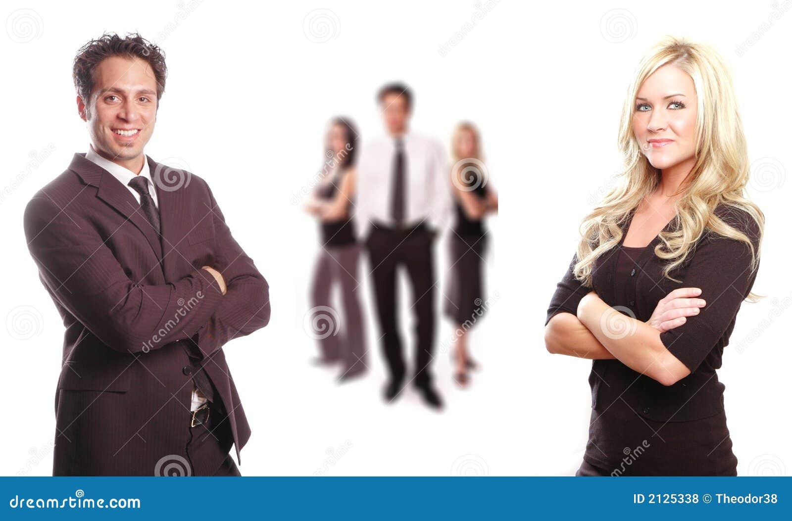 Uma equipe do negócio