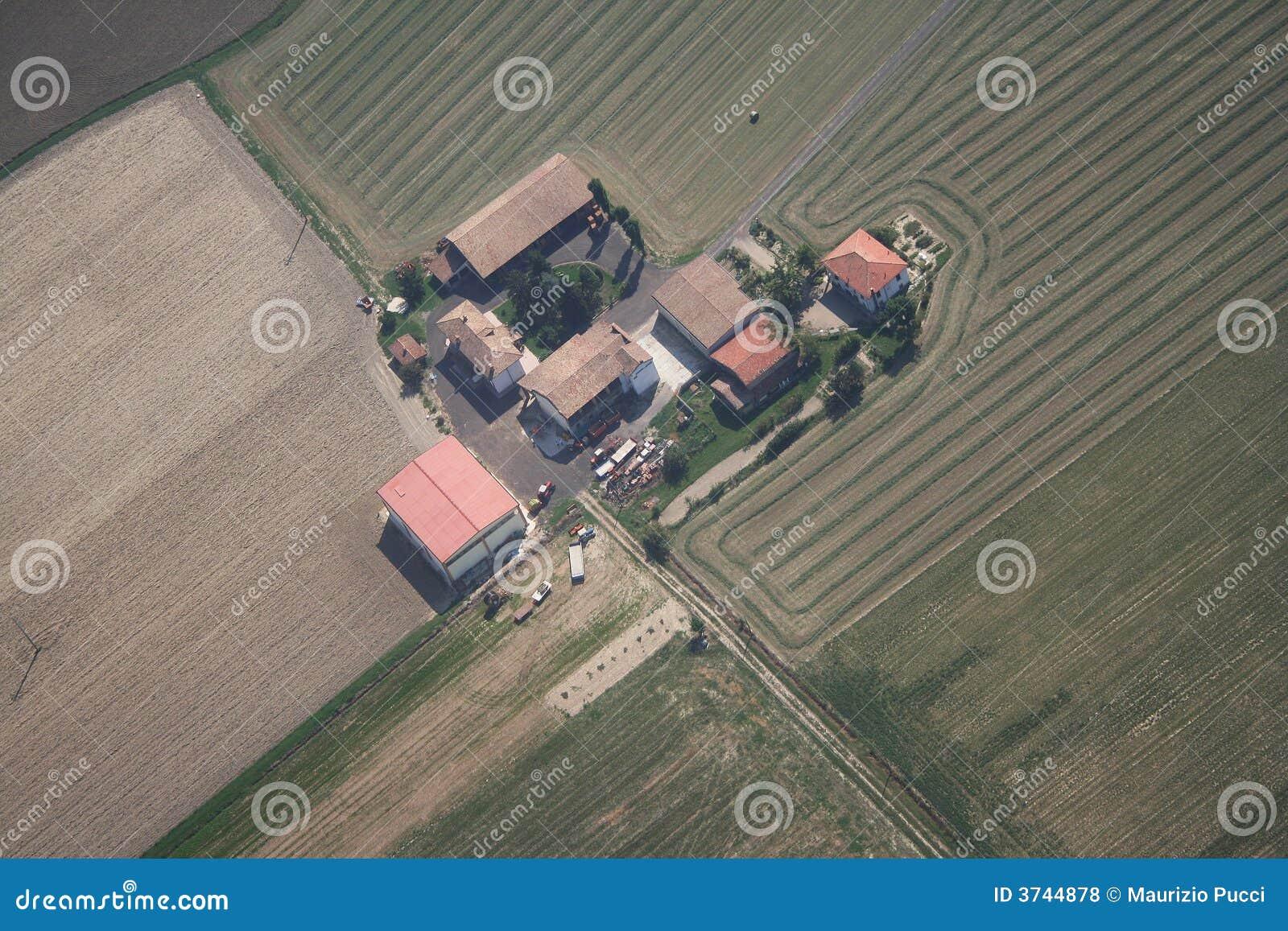 Uma exploração agrícola em Voghera