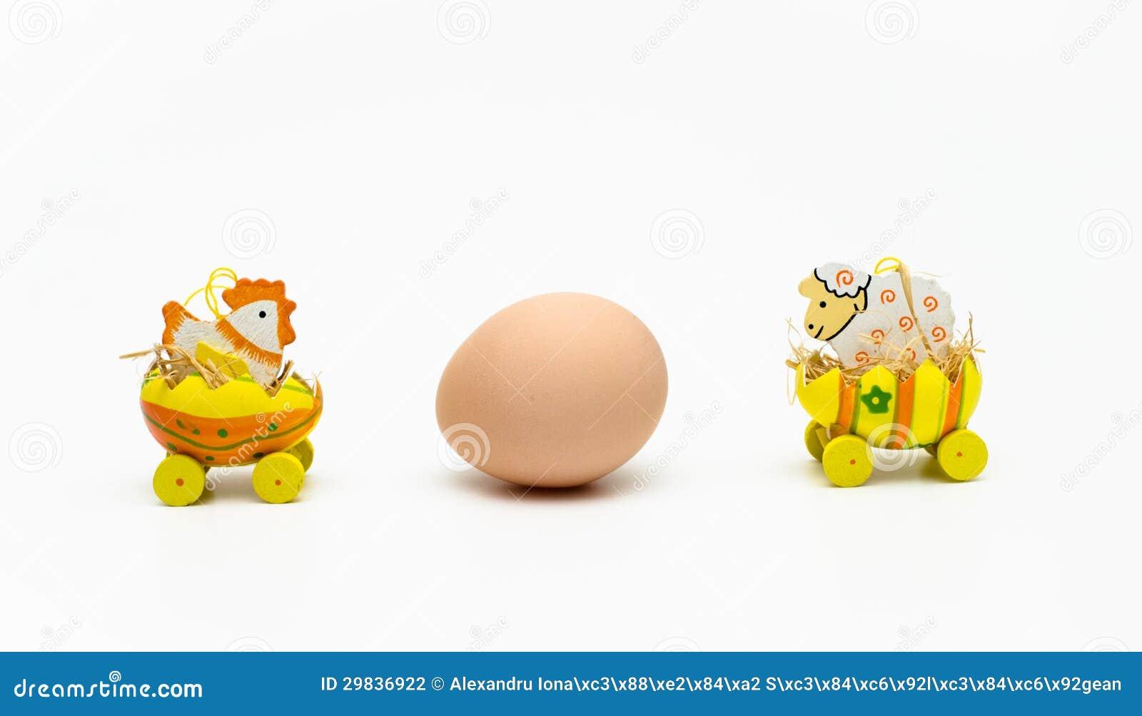 Galinha e cordeiro de Easter