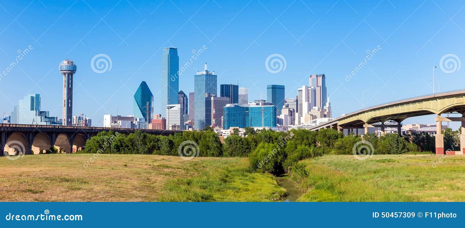Uma ideia da skyline de Dallas, Texas