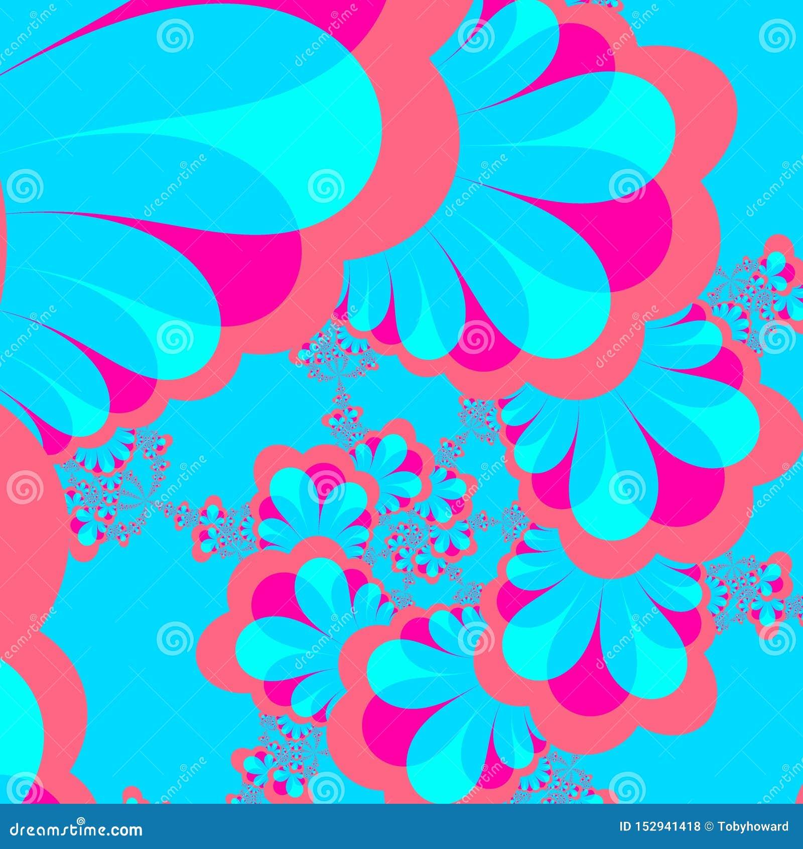 Uma imagem criada usando a computação gráfica, uma imagem de um objeto matemático chamou um fractal