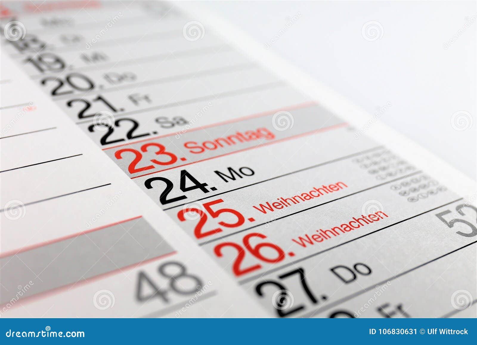 Uma imagem do conceito de um Natal e o ano novo calendar 2018