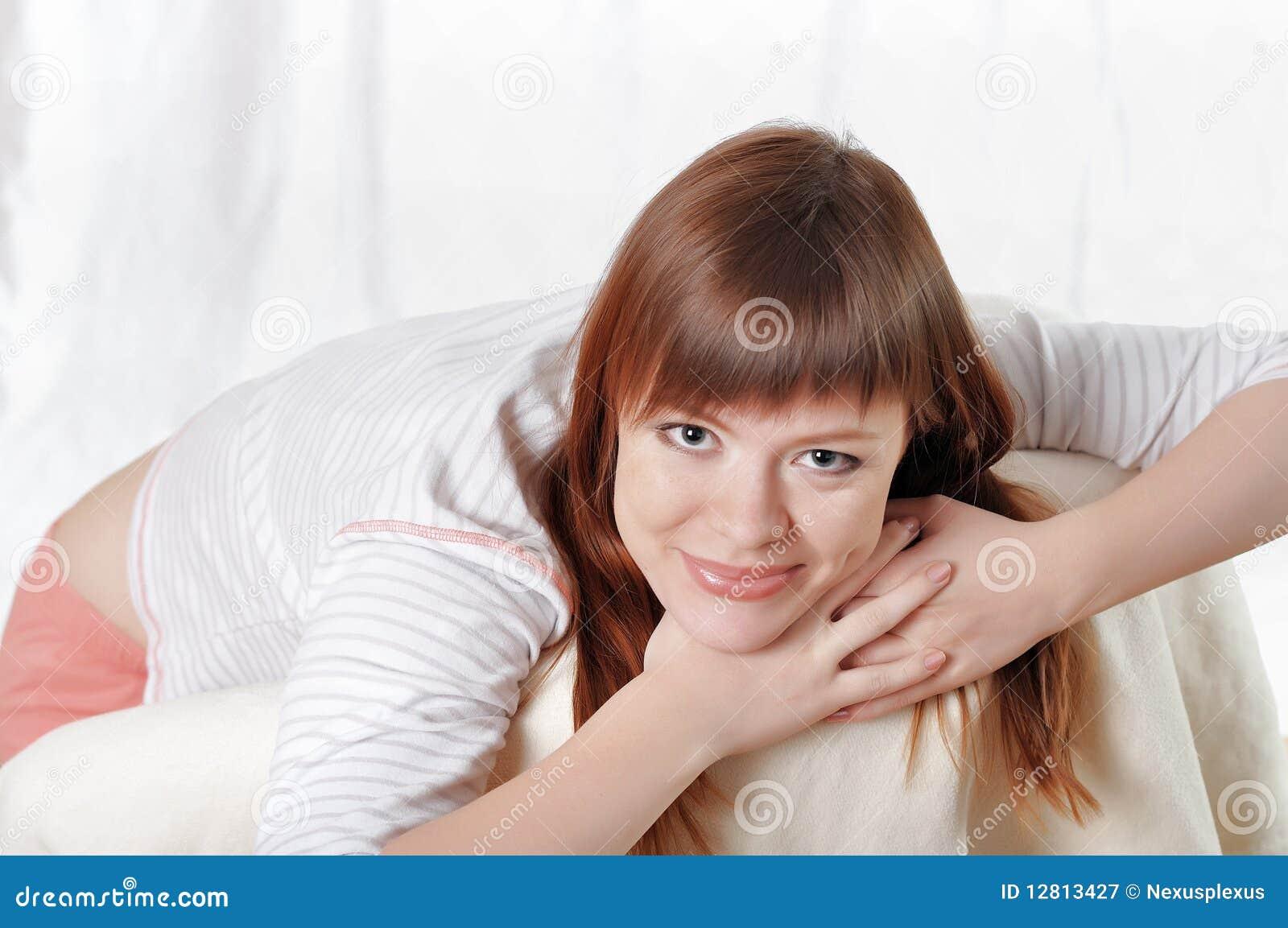 Uma jovem mulher encantador