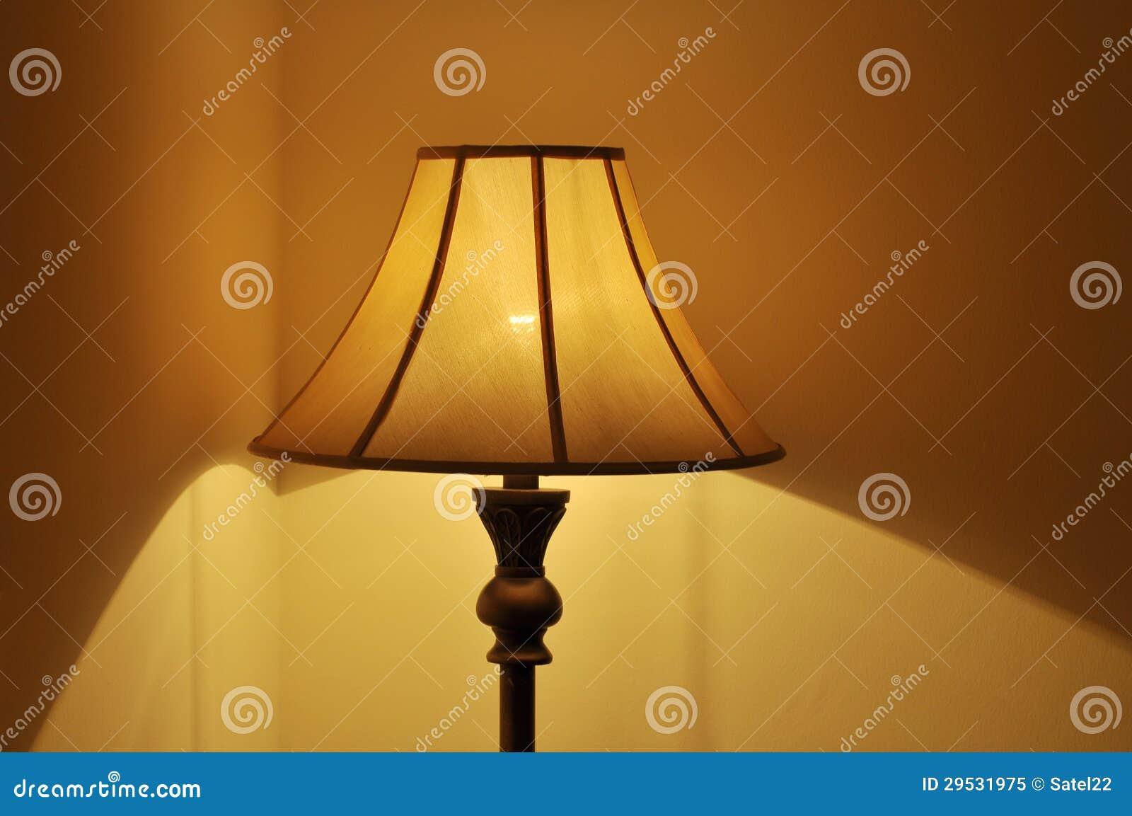 Uma lâmpada do quarto