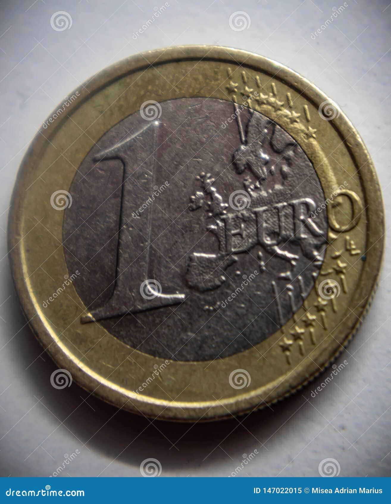 Uma moeda do curency do euro