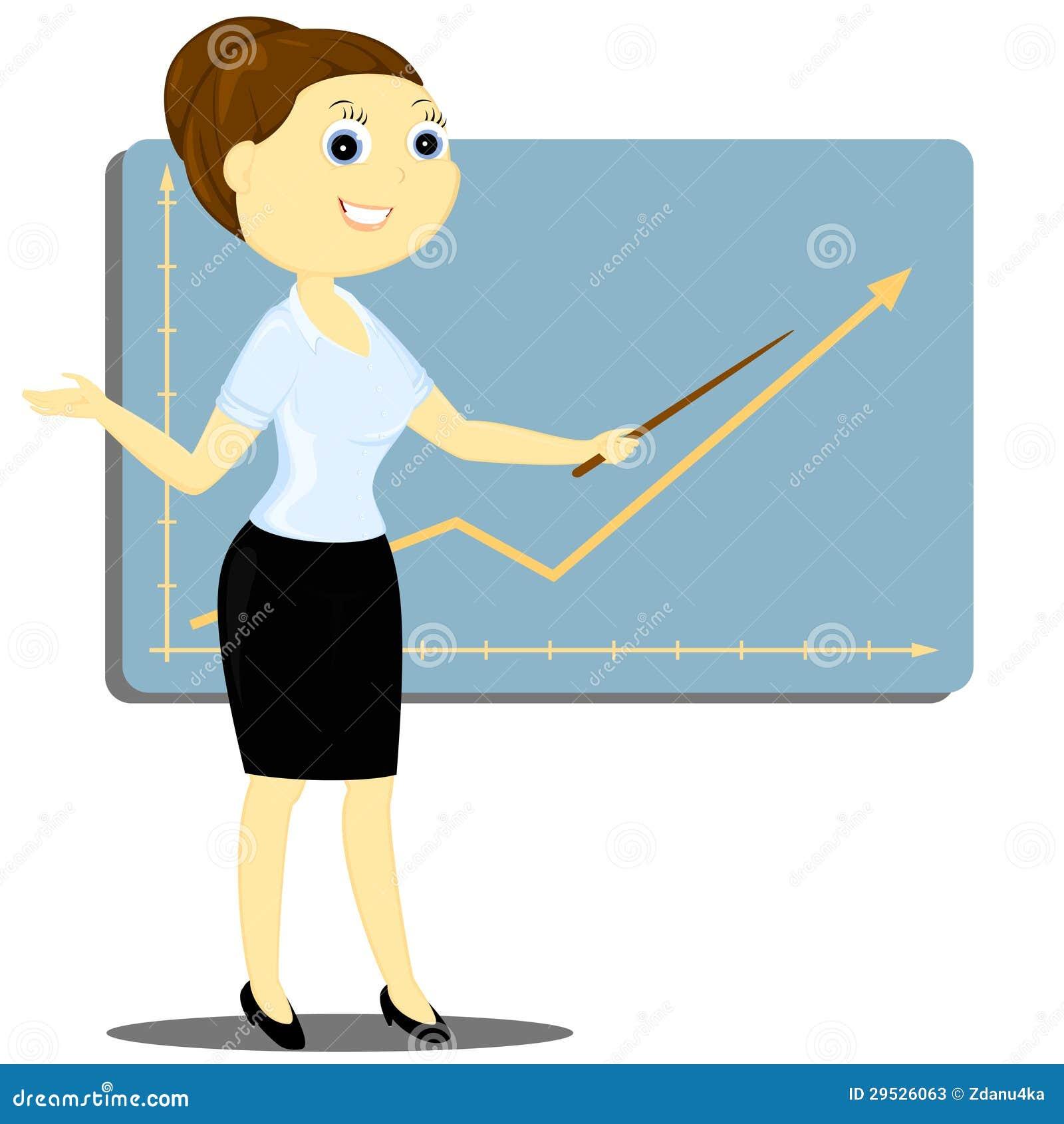 Uma mulher guardara a apresentação