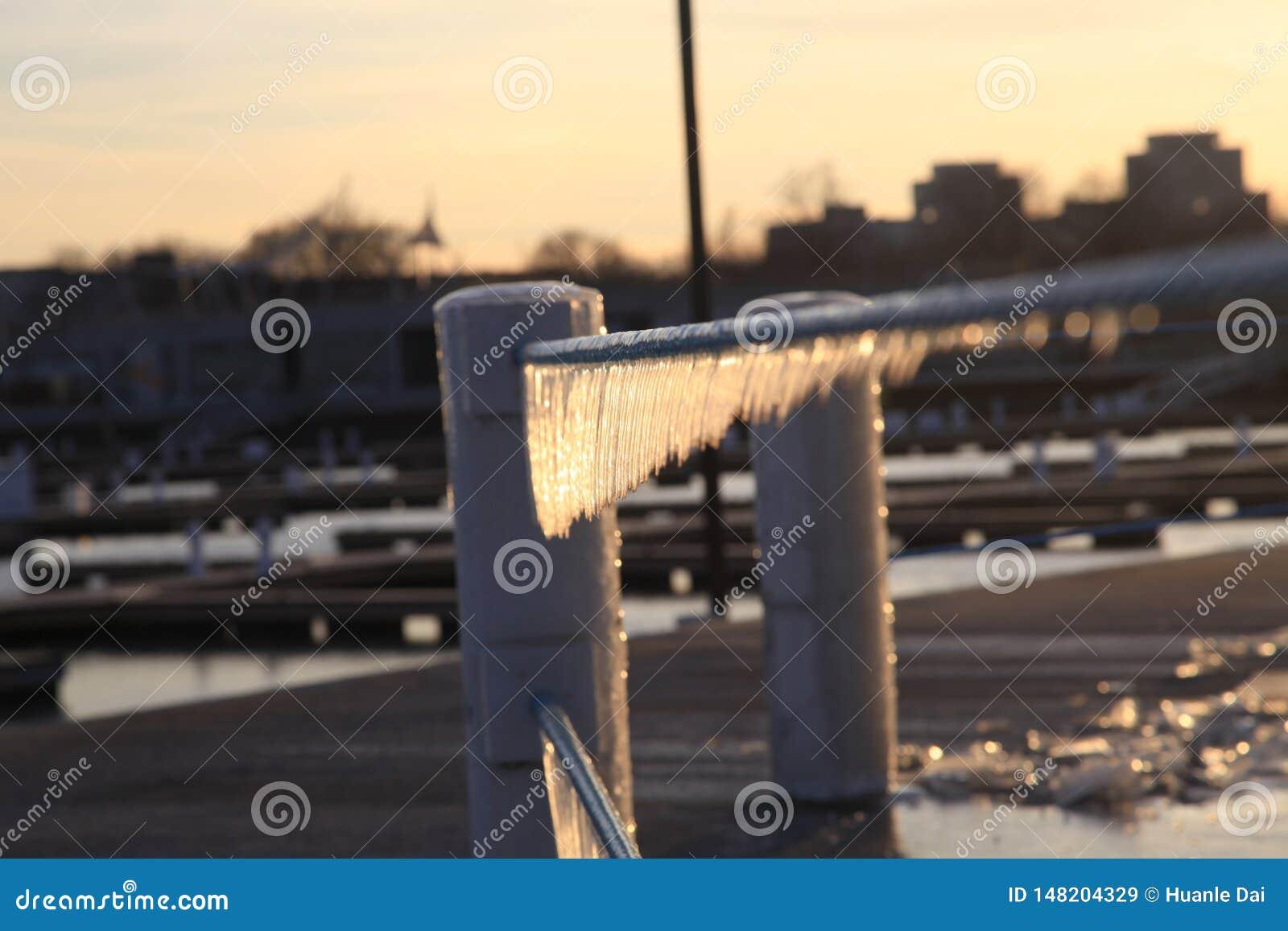 Uma opinião do inverno em Chicago