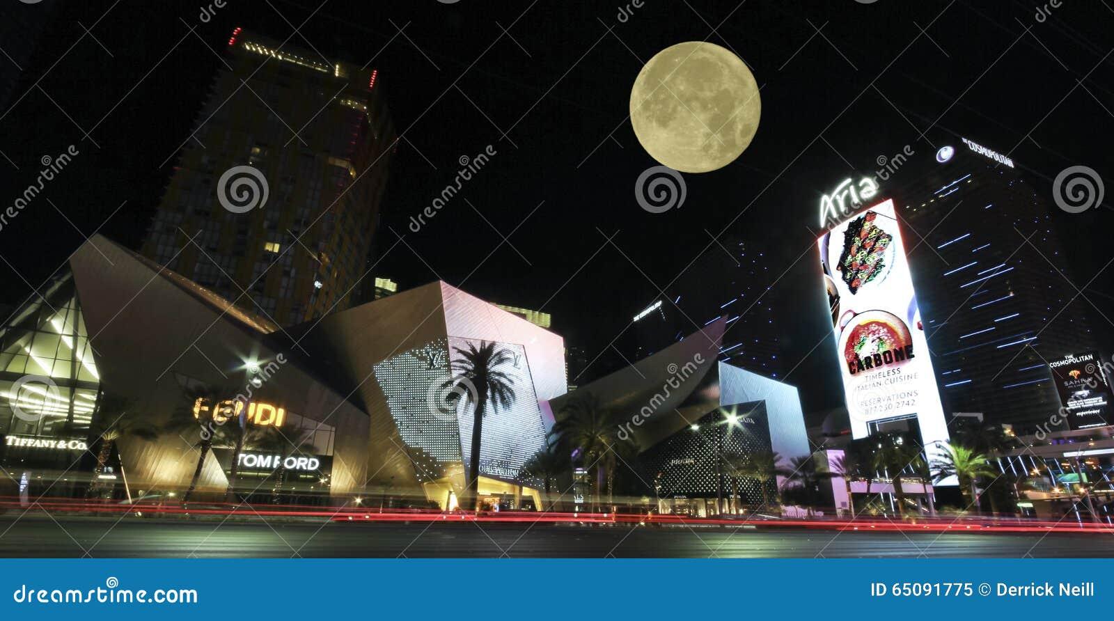 Uma opinião dos cristais, Las Vegas Boulevard da noite