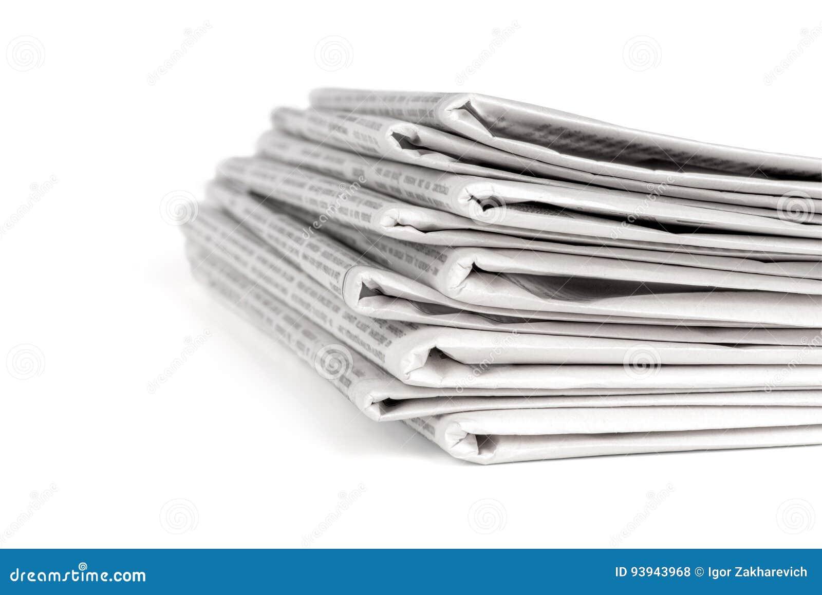 Uma pilha dos jornais