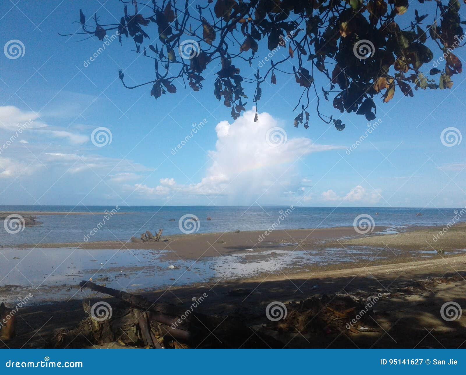 Uma praia surpreendente