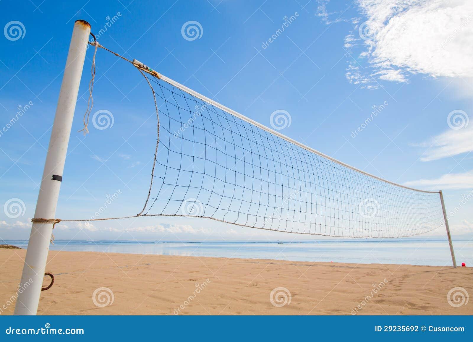 Download Uma Rede Do Voleibol De Praia Foto de Stock - Imagem de branco, surf: 29235692