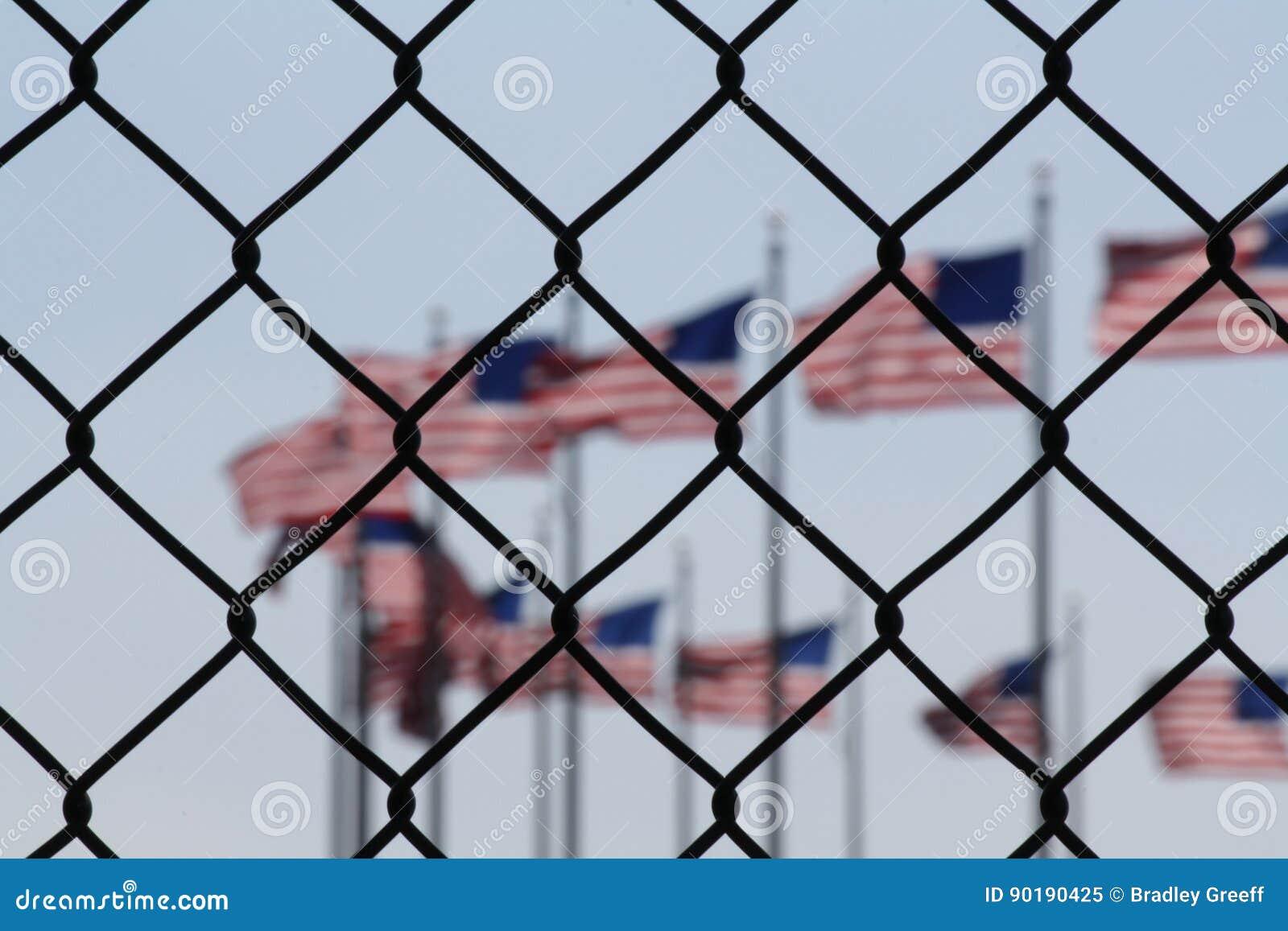 Uma representação simbólica dos Estados Unidos e dos estrangeiros
