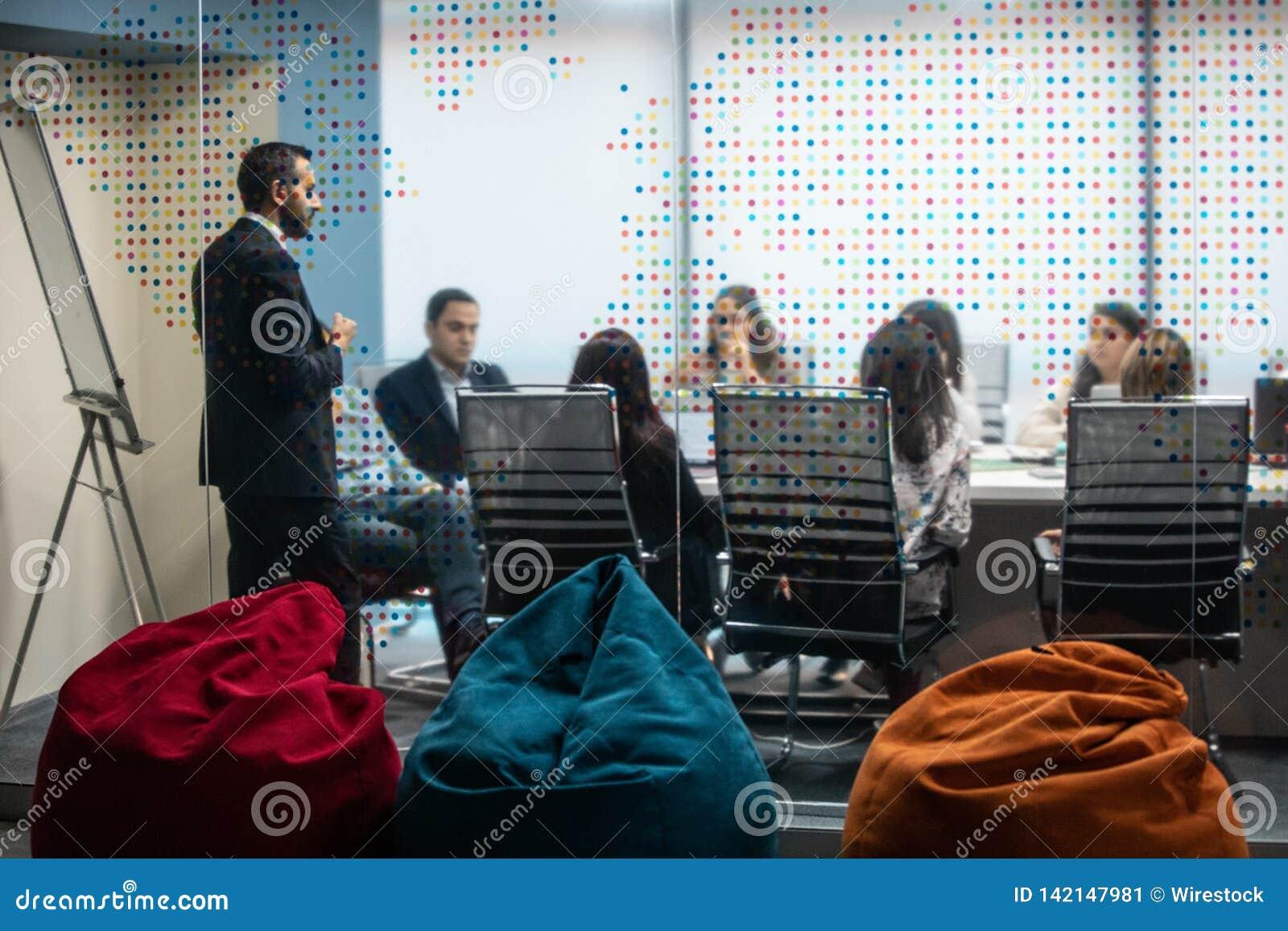 Uma reunião de negócio