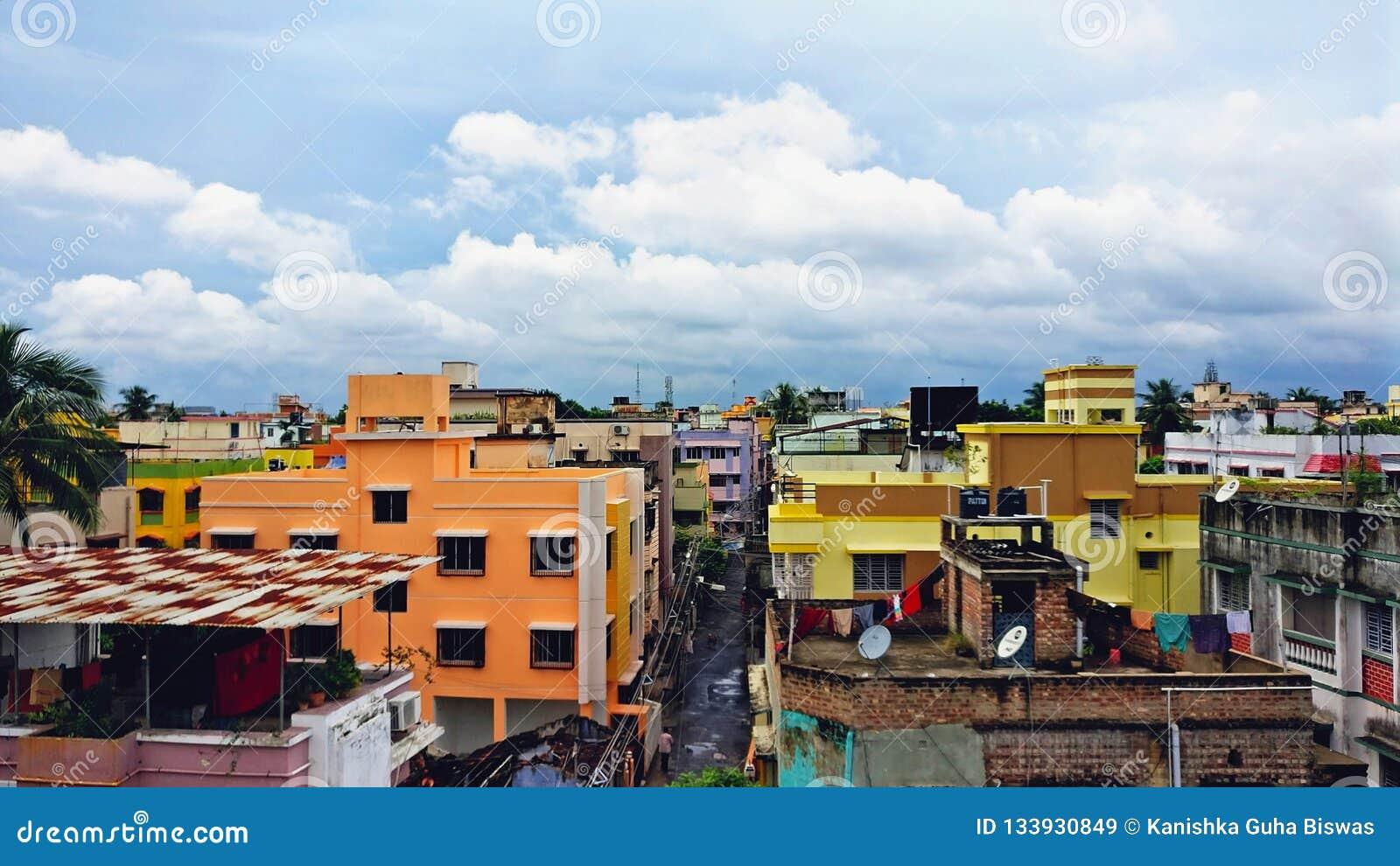 Uma tarde da monção de um apartamento de Kolkata