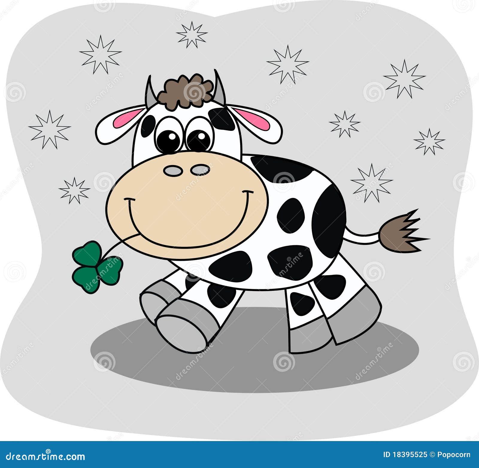 Uma vaca pequena bonito