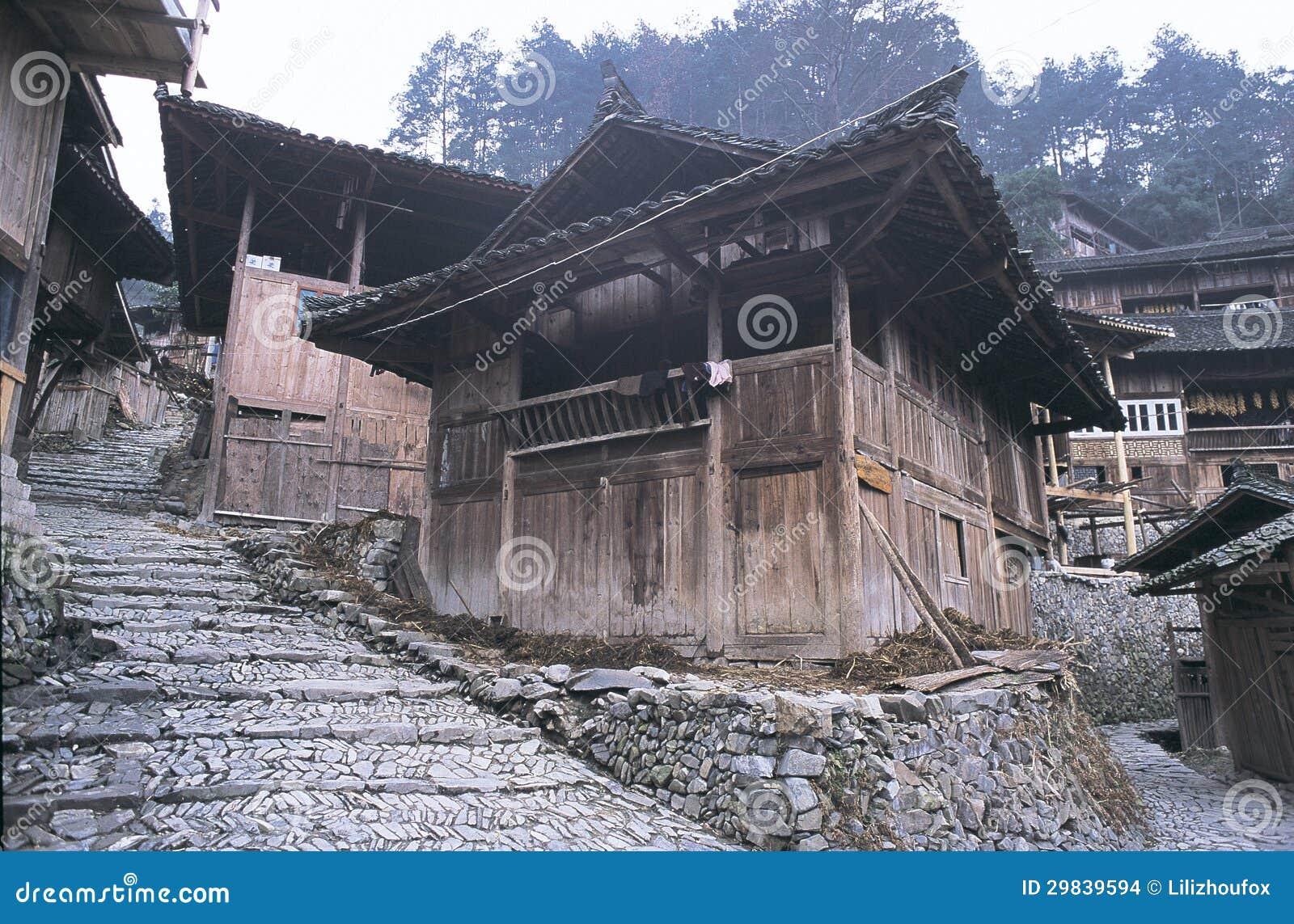 Vila de Hmong no sudoeste China