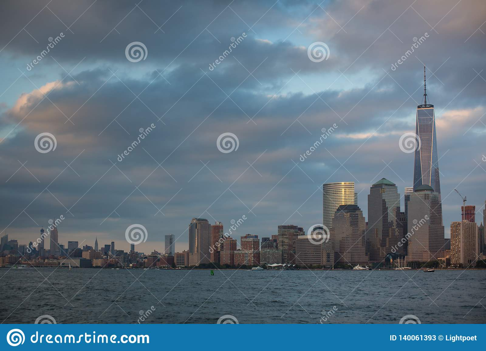 Uma vista do Lower Manhattan