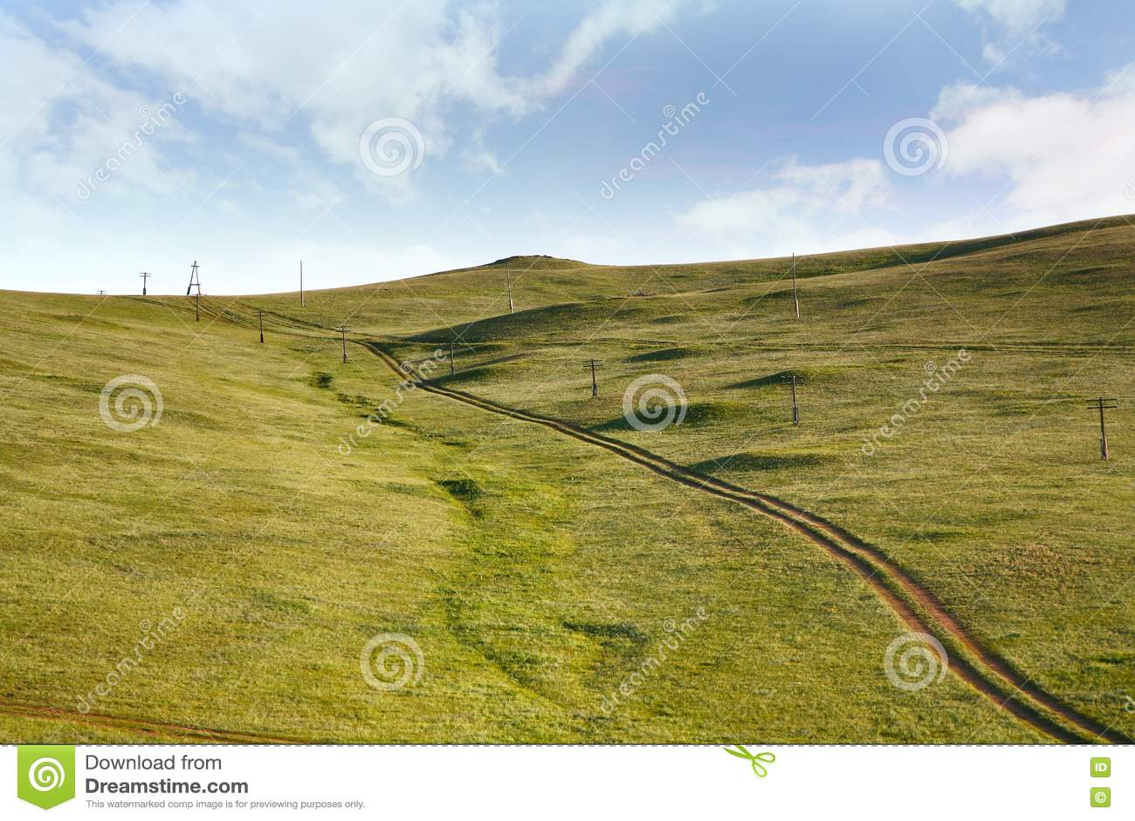 Uma vista do trem transiberiano em Ulaanbaatar, Mongólia