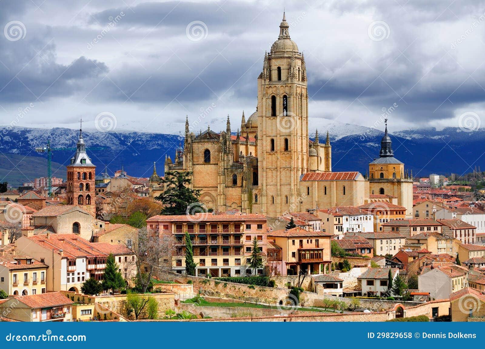 Segovia, Spain: Centro da catedral e de cidade