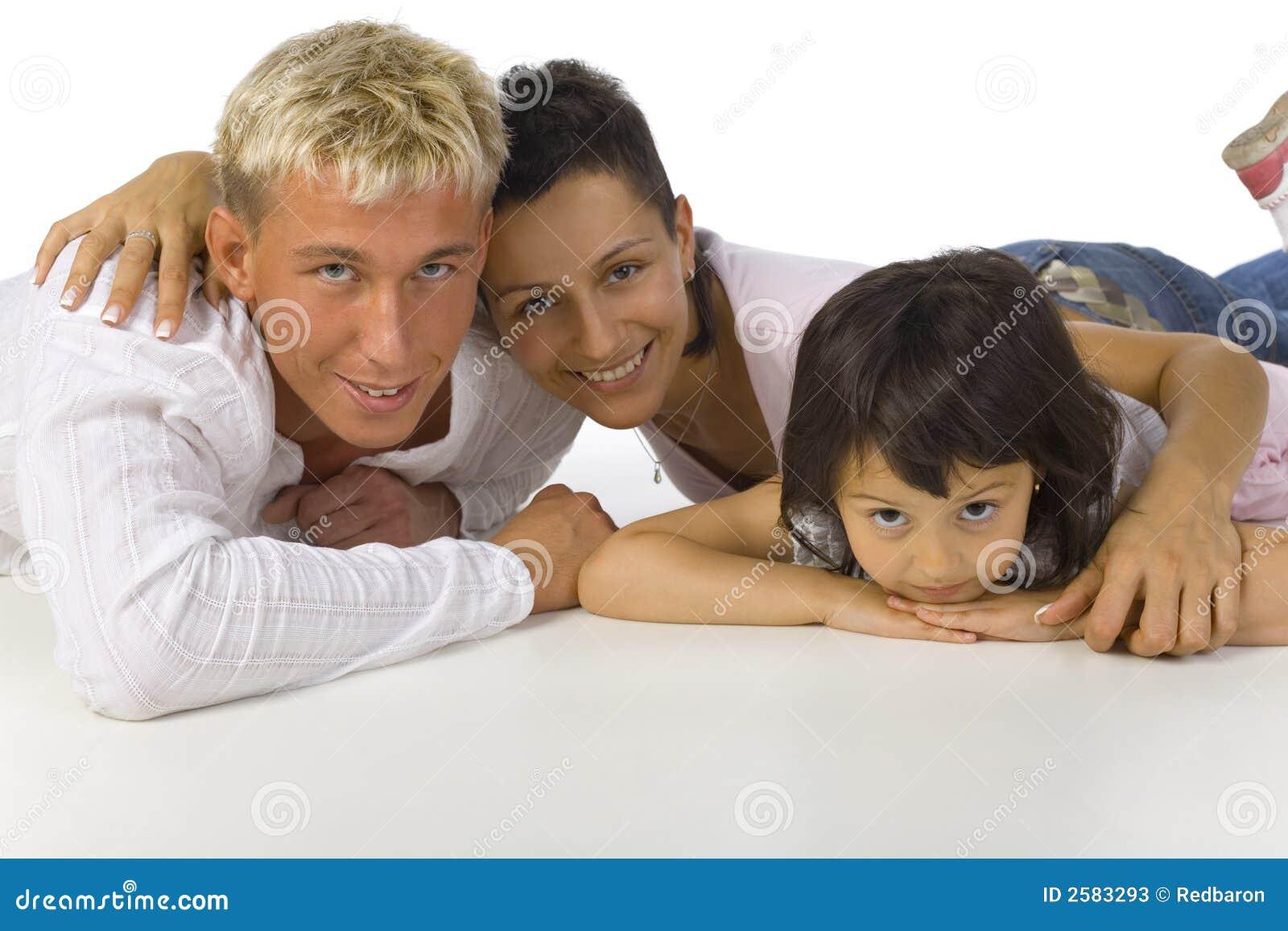 Umarmen der Familie