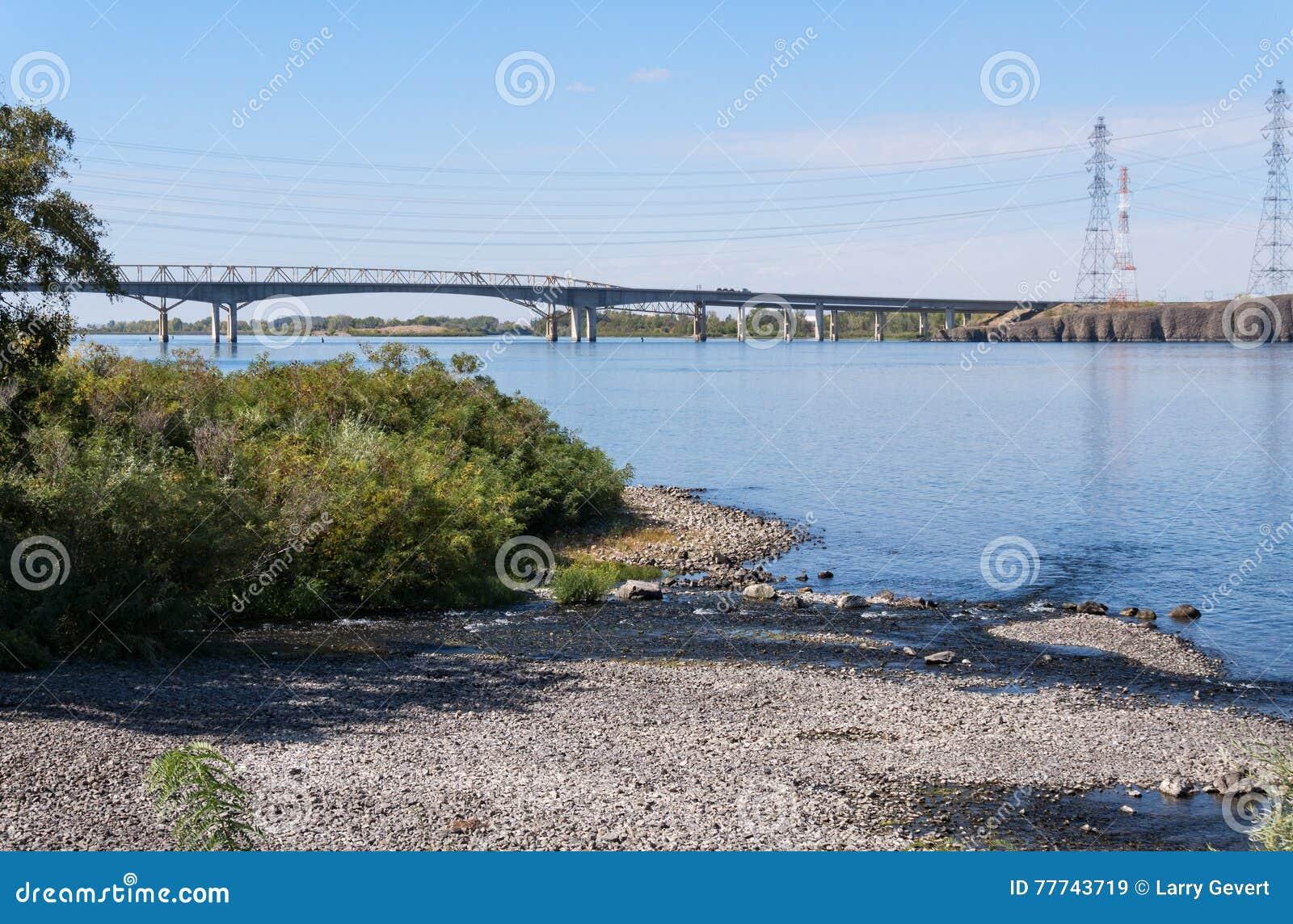 Umatilla Bridge, Columbia River Stock Image - Image of
